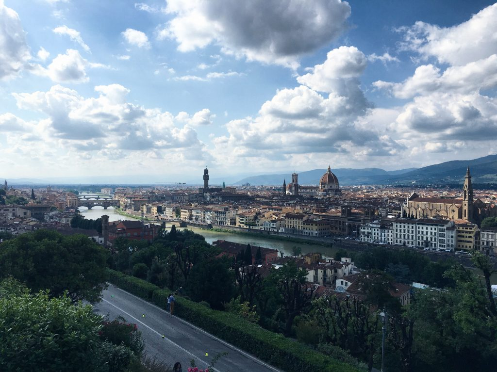 view piazza michelangelo