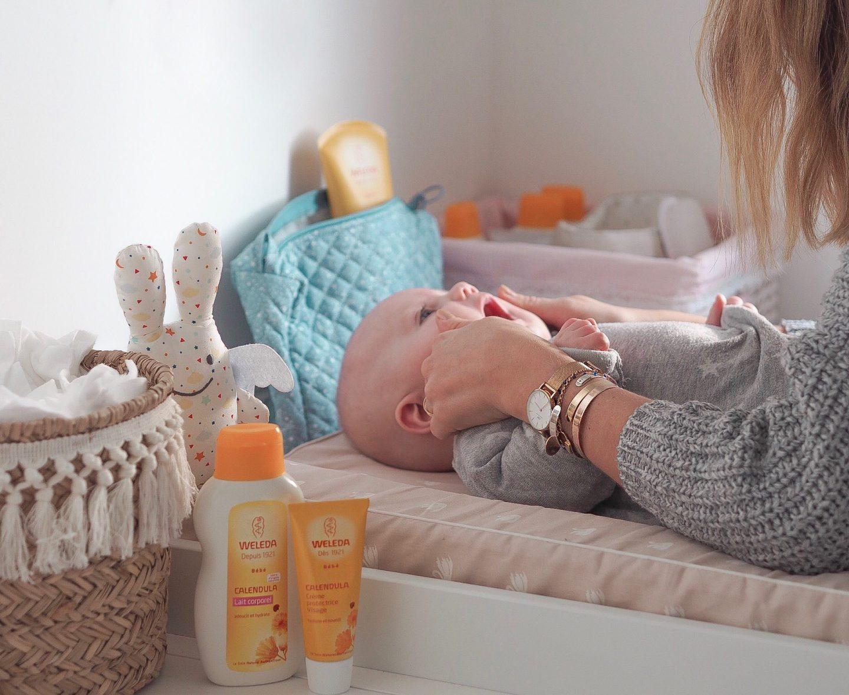 Ma routine bébé avec la gamme Calendula de Weleda